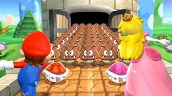 Mario Party 9 MiniGames - Mario Vs Peach Vs Yoshi Vs Luigi (Master Cpu)