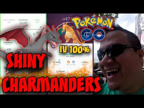 SHINY CHARMANDER IN POKEMON GO!  COMMUNITY DAY IN MT CLEMENS! 100% IV CHARIZARD!