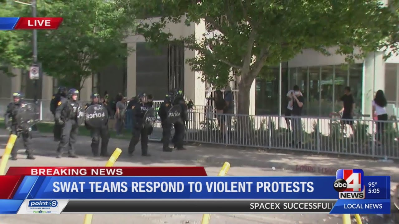Team coverage: SWAT responds to protest in Downtown Salt Lake City