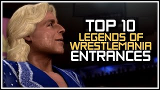 """Top 10 """"WWE Legends Of Wrestlemania"""" Entrances! (History Of WWEGames Countdowns)"""