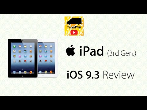 Apple iPad (3rd Generation/第3代) iOS 9.3 official update review/正式版更新檢視 (廣東話/Cantonese) 4K UHD