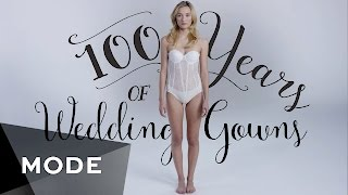 "100 Years of Fashion: Wedding Dresses ★ Mode.com(Say ""I Do"" to our blushing bride, 100 times over. We're back with another century of chic wears, and this time, we'll be walking down the aisle. Tune in for 100 ..., 2015-09-30T16:14:20.000Z)"