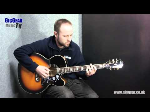 Epiphone EJ-200ce Acoustic Guitar Demo