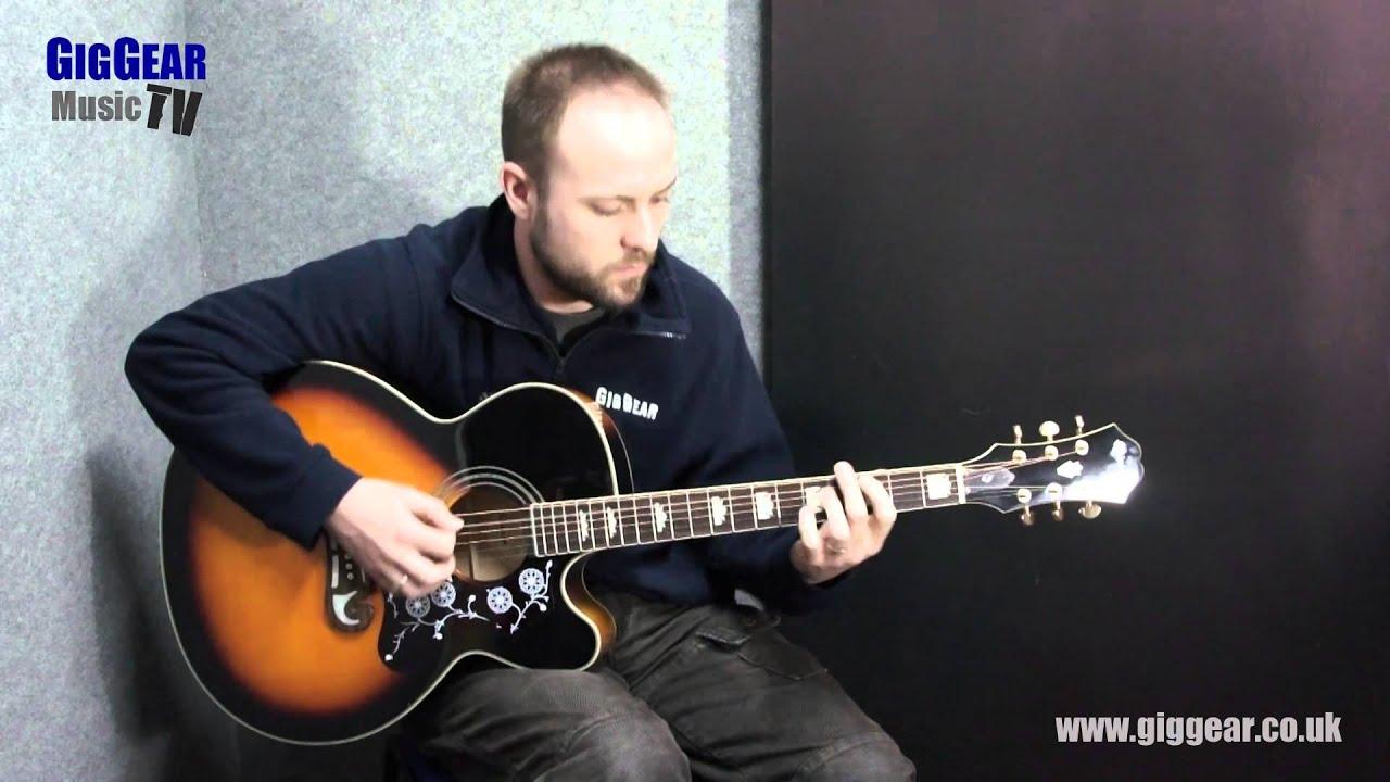 Guitarras electroac/ústicas color natural Epiphone EJ-200SCE