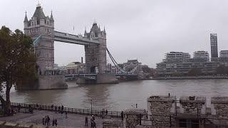 Панорама Лондона с крепостной стены Тауэра.(, 2016-11-11T13:15:03.000Z)