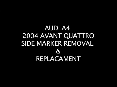 AUDI A4 side marker / turn signal removal & replacement DIY