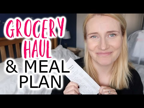 GROCERY HAUL UK 2020 | 7 DAY MEAL PLAN FAMILY OF 4