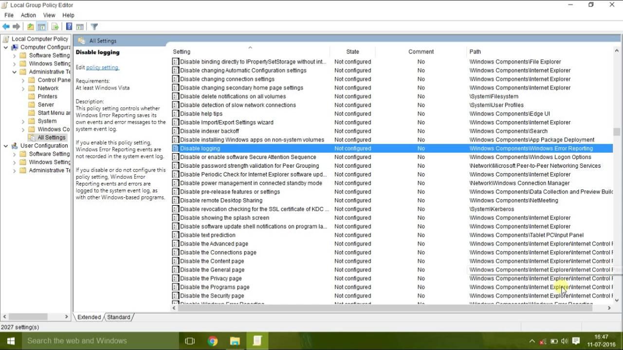 disable werfault.exe windows server 2008 r2