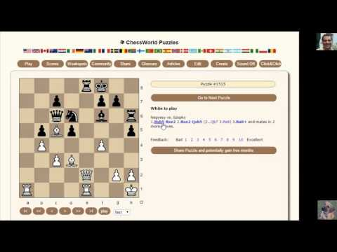 How to solve Chess Puzzles: Chessworld.net Puzzle Practice #40