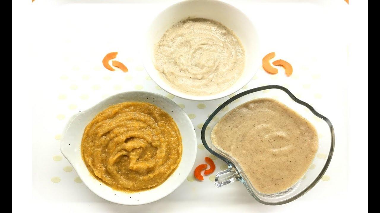 Cách nấu món ăn dặm từ bột ngũ cốc dành cho bé 6 tháng tuổi trở lên