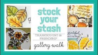 Reverse Confetti October 2018 Stock Your Stash Gallery Walk - Thanksgiving & Friendship