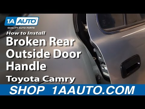 How To Replace Exterior Door Handle 92 96 Toyota Camry Youtube