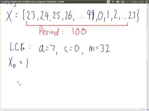 Pseudo Random Number Generators (CSS322, Lecture 7, 2013)