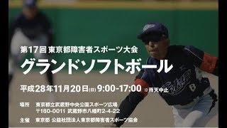 第17回 東京都障害者スポーツ大会 グランドソフトボールの試合を生中継...