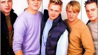 "Pics of westlife (irish boys band). singing their song ""i lay my love on you"" and the spanish version ""en ti deje mi amor""."