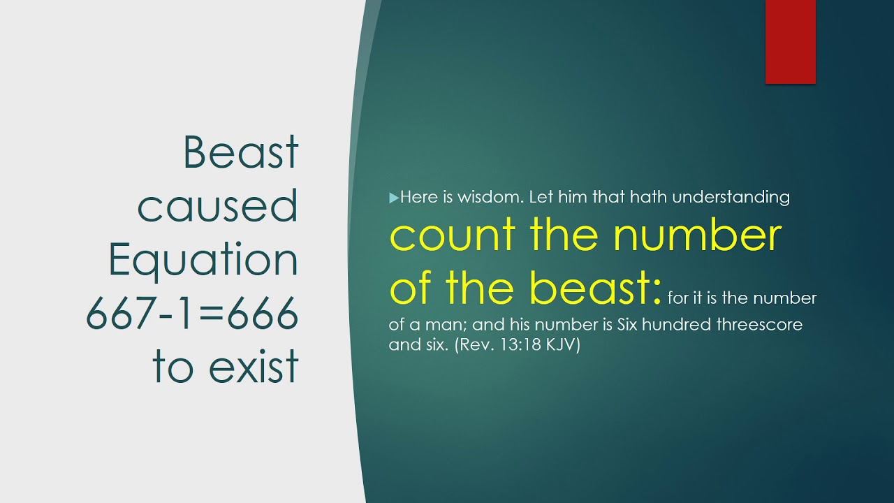 Revelation 13:18 The Number of the Beast 666