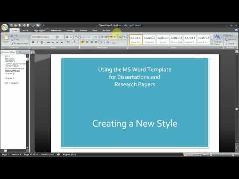 Pt 2 of 3 Thesis Template from Word
