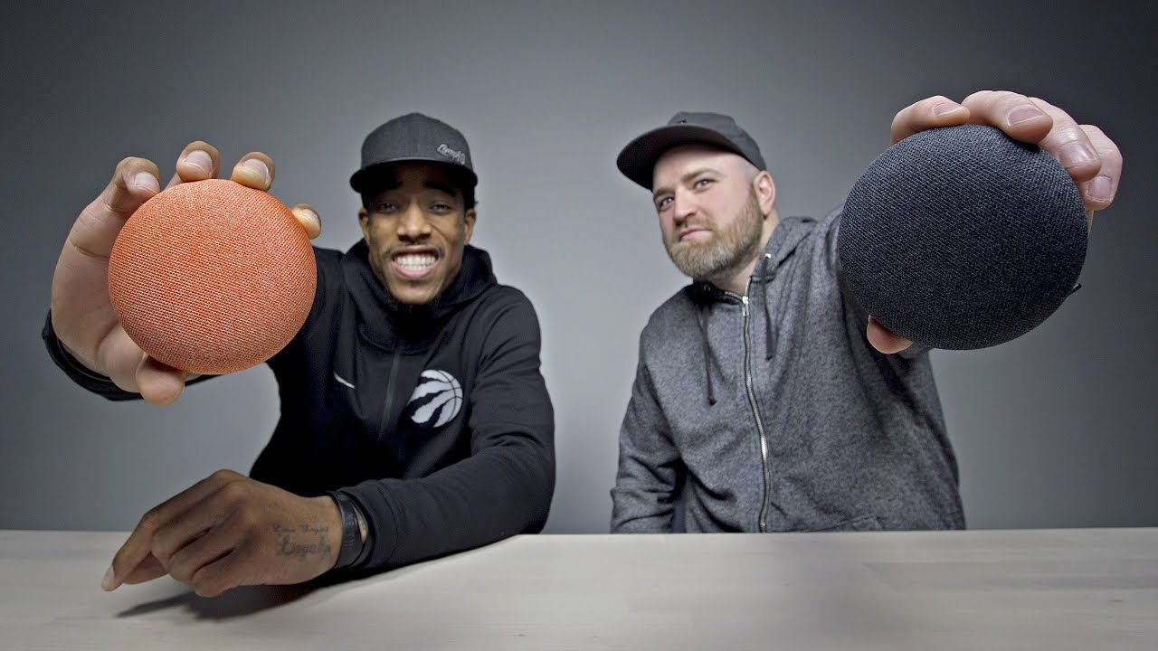 Unboxing Google Home Mini With Demar DeRozan!