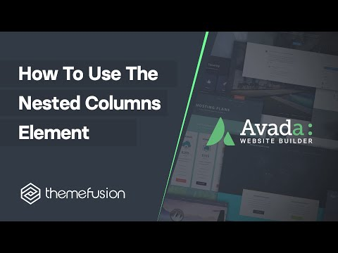 How To Use The Nested Columns Element Video