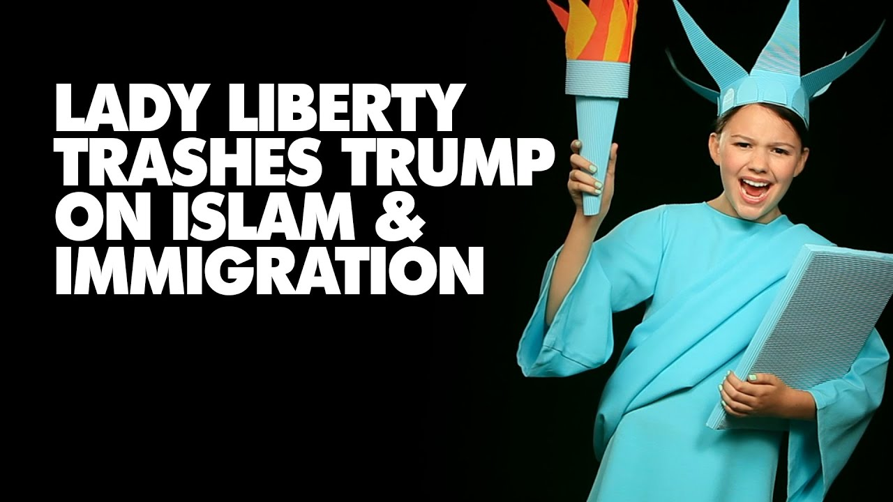 Lady Liberty Trashes Trump on Islam & Immigration