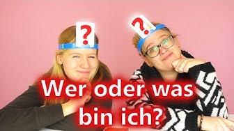 WER oder WAS bin ich?! CHALLENGE   Eva & Kathi spielen HEDBANZ   Wer errät schneller das Wort