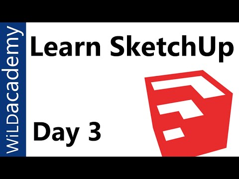 SketchUp Tutorial - 3 - Groups and Components