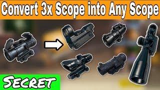 Convert 3x scope into any scope in Pubg Mobile | Scope Glitch