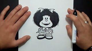 Como dibujar a Mafalda paso a paso | How to draw Mafalda