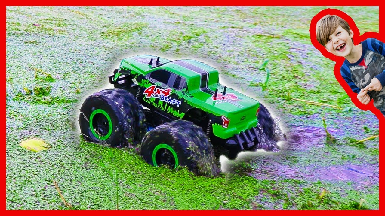 Rc Monster Truck Really Rides On Water Youtube