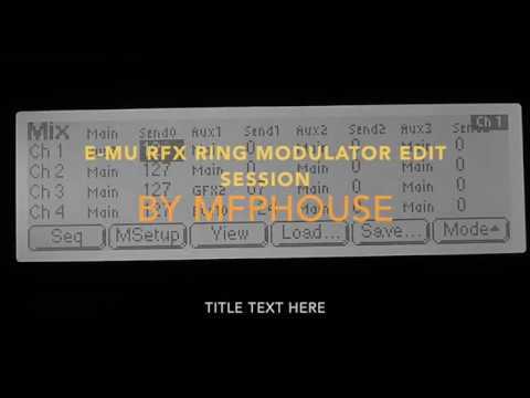 E-MU RFX-32 PlugIn Ring Modulator