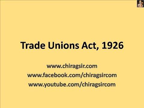 Trade Unions Act 1926 Video