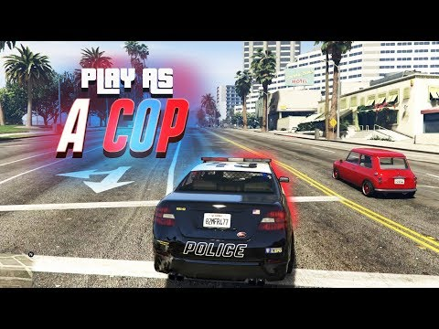 PLAY AS A COP IN GTA ONLINE! (NEW MODE)