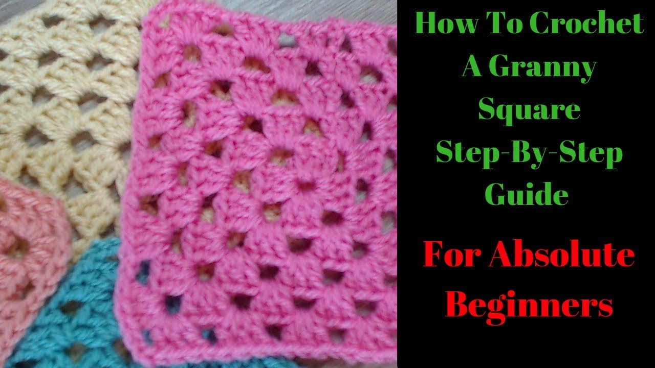 How To Crochet Granny Square For Beginners Step By Step
