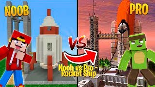 Minecraft NOOB vs PRO -  MOST SECURE ROCKET SHIP CHALLENGE!!!