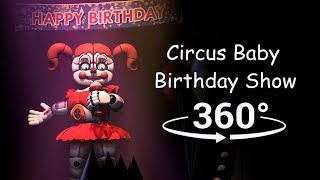 360°| Circus Baby Birthday Show - FNAF Sister Location [SFM] (VR Compatible)