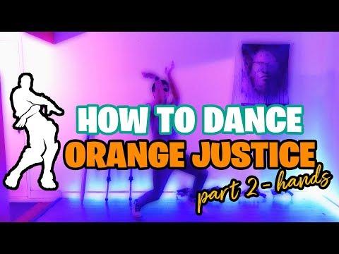 ORANGE JUSTICE Dance Tutorial For BEGINNERS Pt. 2 - Hand Movements   Fortnite