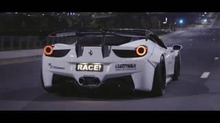MIDNIGHT DRIFTING - Ferrari 458 Italia w/ ARMYTRIX F1-Titanium Exhaust & Liberty Walk By RACE!