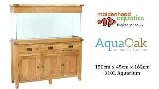 Aqua Oak 150cm 'Drawers & Doors' Aquarium and Cabinet
