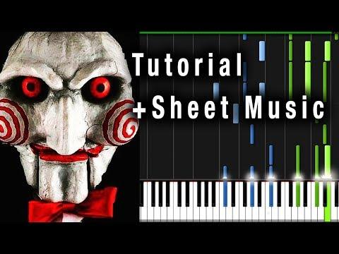 SAW THEME (Jigsaw) Piano Tutorial + Sheet Music