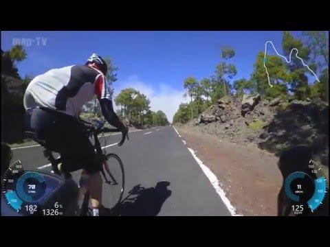 Tenerife cycling training 2016 z2 to crater area - Teneriffa Rennrad Training Z2 90 min