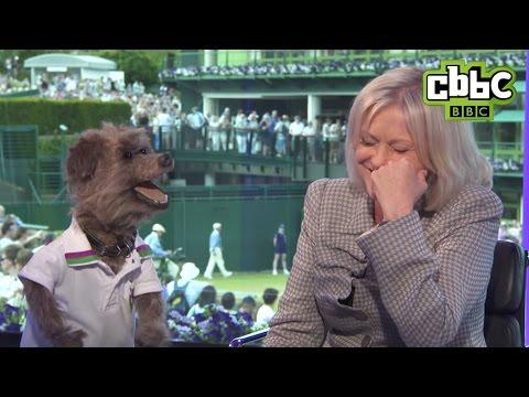 Wimbledon 2015 - Sue Barker speaks to Hacker the dog - CBBC