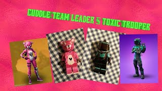 Lego custom Fortnite skins Cuddle Team Leader & TOXIC Trooper!!!