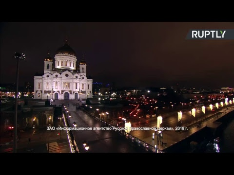 Messes du Noël orthodoxe à Moscou et à Saint-Pétersbourg - YouTube