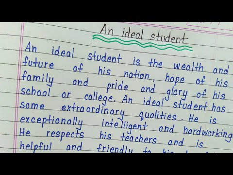 An ideal student essay in english || Handwriting || Essay writing