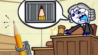 Pencilmate's Stuck In Court! | Animated Cartoons Characters | Animated Short