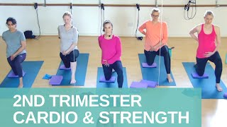 2nd Trimester Cardio and Strength for all Levels | MIDWIFE APPROVED Pregnancy Workouts | Jane Wake