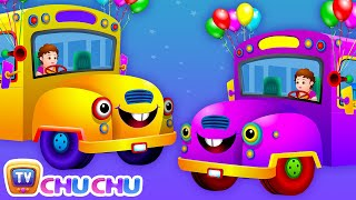 Repeat youtube video Wheels on the Bus (PART 2)  - Popular Nursery Rhymes and Songs for Children