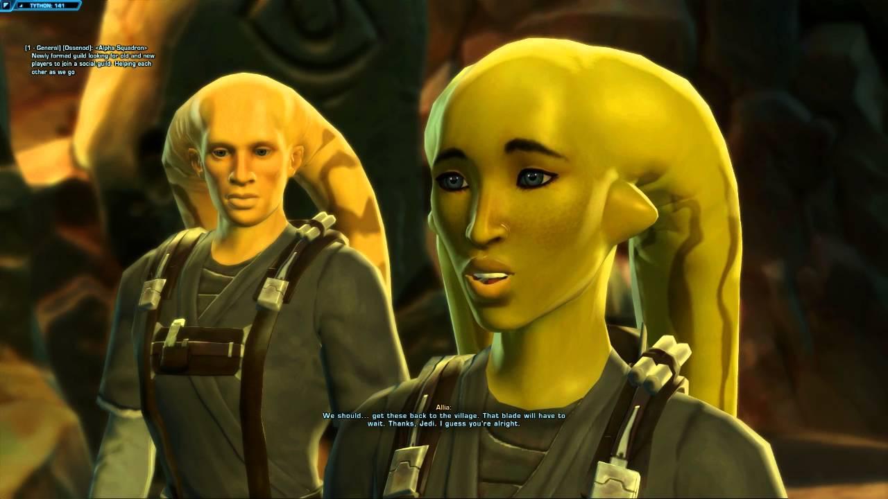 Star Wars The Old Republic Walkthrough Part 5 - Jedi Consular Gameplay -  Tython Quests