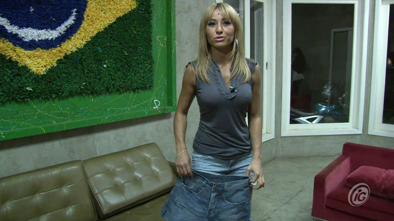 19ae92dba490c Sabrina Sato transforma calça do namorado em short - YouTube