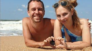 Vlog☀️🌊 годовщина 10лет Голубицкая пляж крутые волны отдых на море